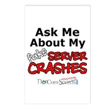 Ask Me About My Fake Server Crashes Postcards (Pac