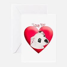 Valentines American Bulldog P Greeting Cards (Pack
