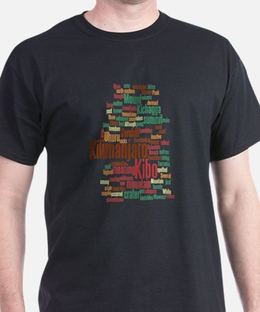 Kilimanjaro Men's Word Cloud T-Shirt