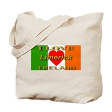 I Love Limerick Ireland Heart Tote Bag