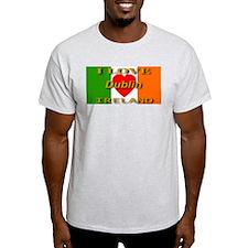 I Love Dublin Ireland Heart F Ash Grey T-Shirt