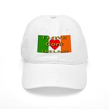 I Love Cork Ireland Heart Fla Baseball Baseball Cap