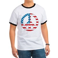 4th July Peace Ringer T