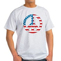 4th July Peace Light T-Shirt