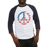 4th July Peace Baseball Jersey