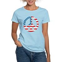 4th July Peace Women's Light T-Shirt