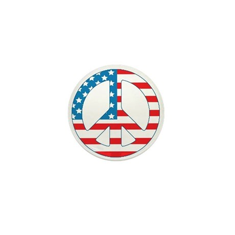 4th July Peace Mini Button