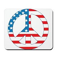 4th July Peace Mousepad