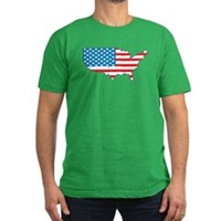 America Flag 4th July Men's Fitted T-Shirt (dark)