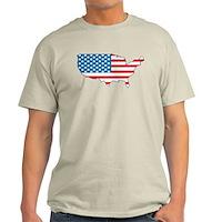 America Flag 4th July Light T-Shirt