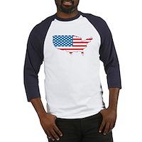 America Flag 4th July Baseball Jersey