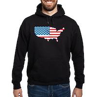 America Flag 4th July Hoodie (dark)
