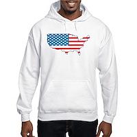 America Flag 4th July Hooded Sweatshirt