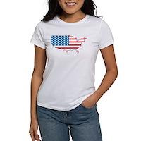 America Flag 4th July Women's T-Shirt