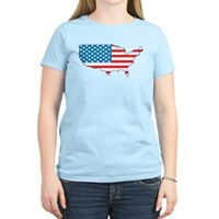 America Flag 4th July Women's Light T-Shirt