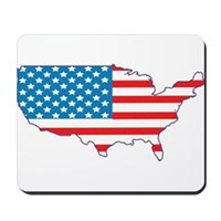 America Flag 4th July Mousepad