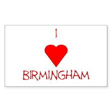 I Love Birmingham Decal