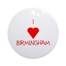 I Love Birmingham Ornament (Round)