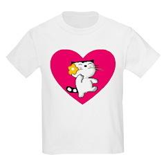 Dancing Cat With Flower Kids T-Shirt