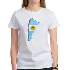 3D Map Of Argentina Women's T-Shirt