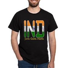 IND India Black T-Shirt