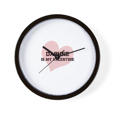Daphne Is My Valentine Wall Clock