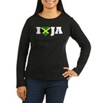 I Love Jamaica Women's Long Sleeve Dark T-Shirt