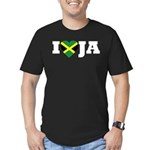 I Love Jamaica Men's Fitted T-Shirt (dark)