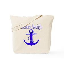 Anchors Aweigh Blue Tote Bag