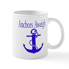 Anchors Aweigh Blue Mug