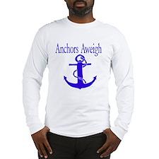 Anchors Aweigh Blue Long Sleeve T-Shirt