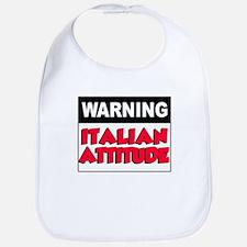 Warning Italian Attitude Bib