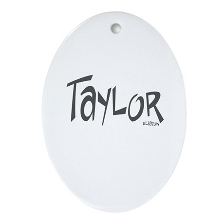 Taylor Oval Ornament