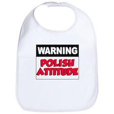 Warning Polish Attitude Bib