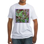 SPECKLED LEAVES Fitted T-Shirt