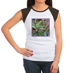 SPECKLED LEAVES Women's Cap Sleeve T-Shirt