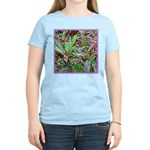 SPECKLED LEAVES Women's Pink T-Shirt