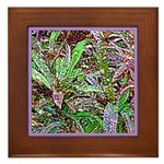 SPECKLED LEAVES Framed Tile