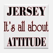 Jersey Attitude Tile Coaster