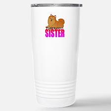 Orange Pomeranian Sister Travel Mug