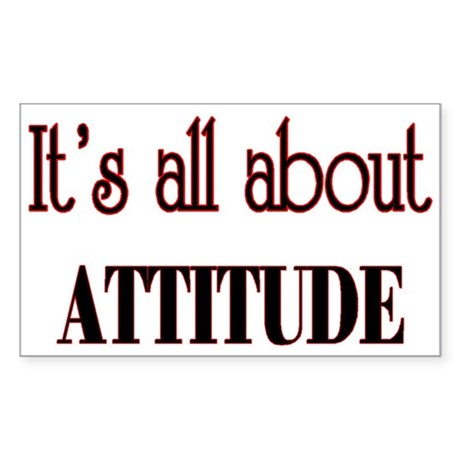 attitude Sticker (Rectangle 10 pk)