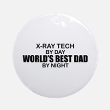 World's Best Dad - X-Ray Tech Ornament (Round)