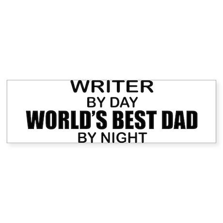 World's Best Dad - Writer Sticker (Bumper)
