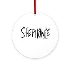 Stephanie Ornament (Round)