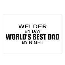 World's Best Dad - Welder Postcards (Package of 8)