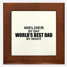 World's Best Dad - Welder Framed Tile