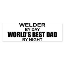 World's Best Dad - Welder Bumper Sticker