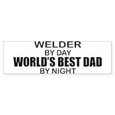 World's Best Dad - Welder Car Sticker