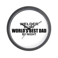World's Best Dad - Welder Wall Clock