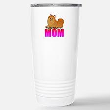 Orange Pomeranian Mom Stainless Steel Travel Mug